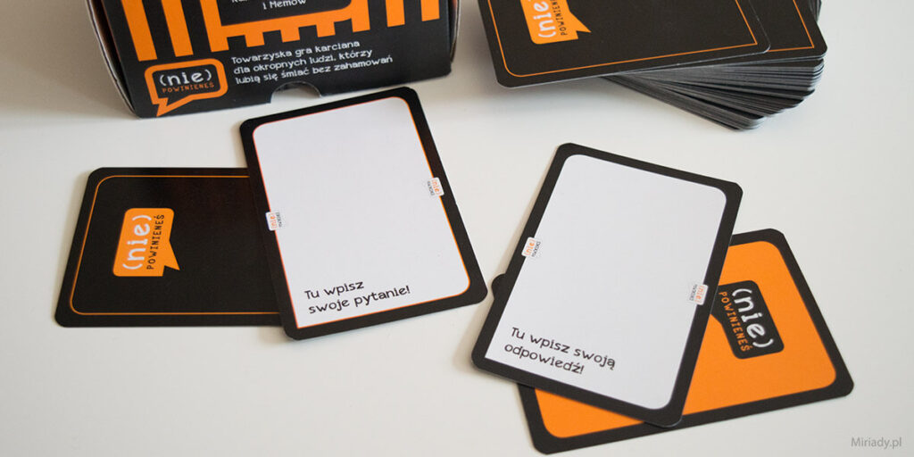 (nie) Powinieneś – gra karciana +18 - puste karty