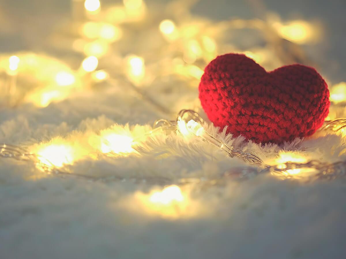 Serce i światełka