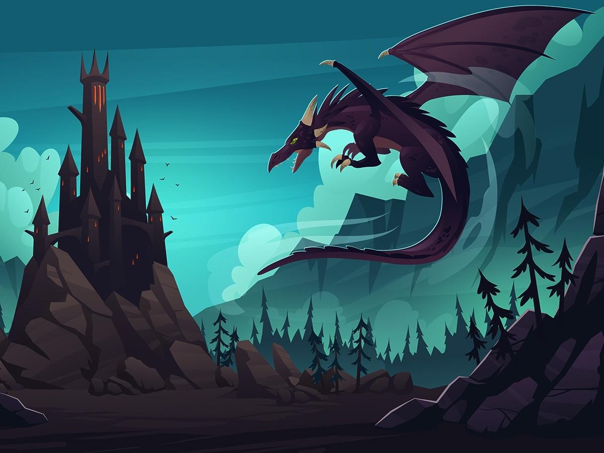 zamek i smok